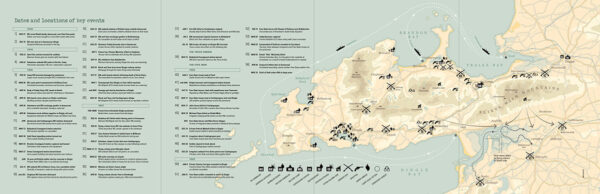 War in the West fold out map
